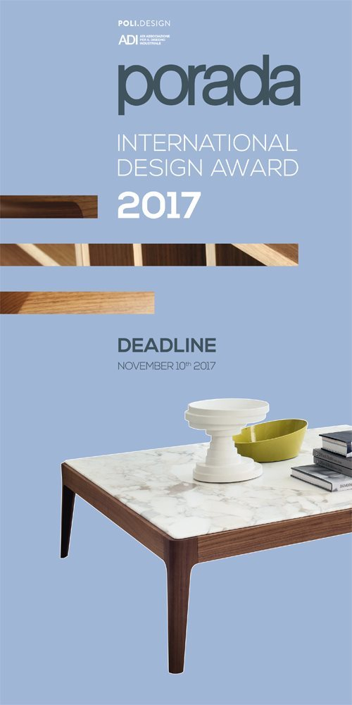 Porada international design award 2017 for Porada arredi srl