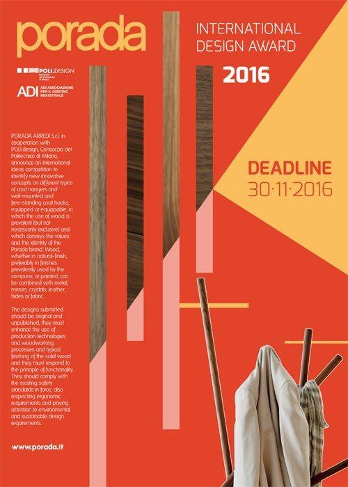 Porada international design award piu 39 di 420 progetti for Porada international design award 2016